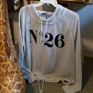 Divided H&M ladies L Hooded Shirt No. 26